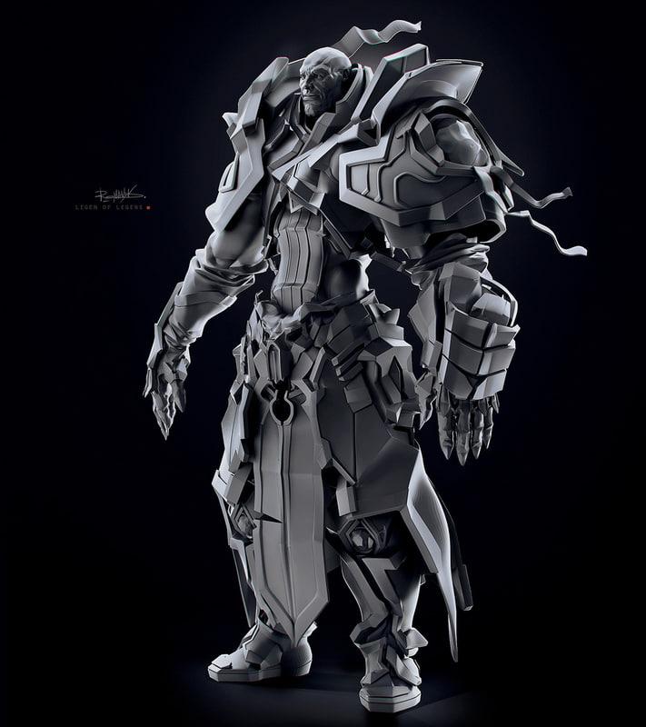 character warrior fbx