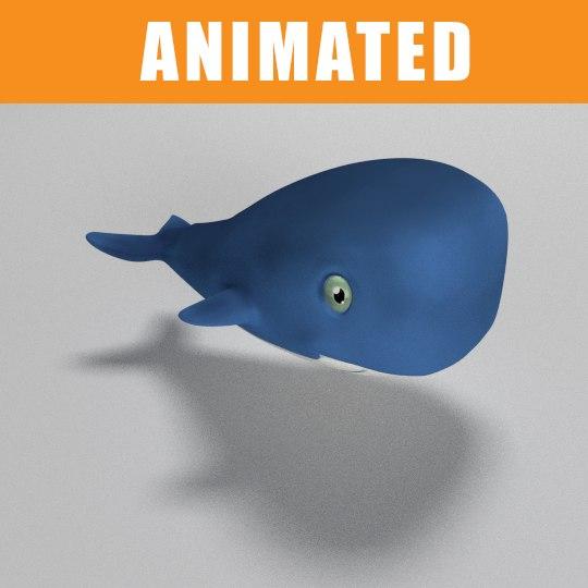 whale animation 3d 3ds