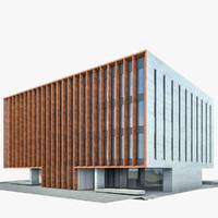 3ds modern office building exterior
