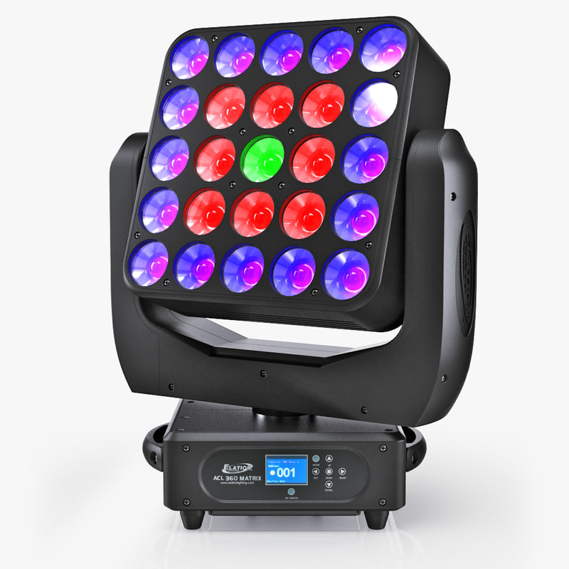 3d model acl 360 matrix lights