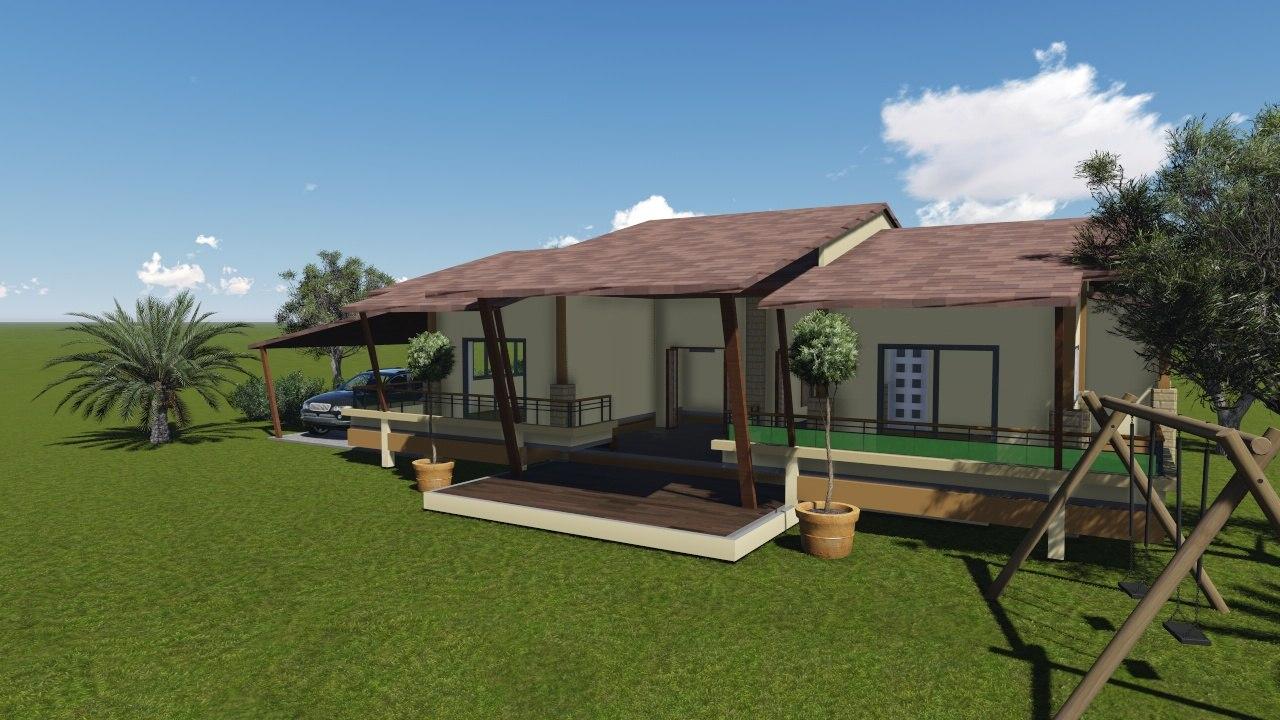 garden house 3d rvt