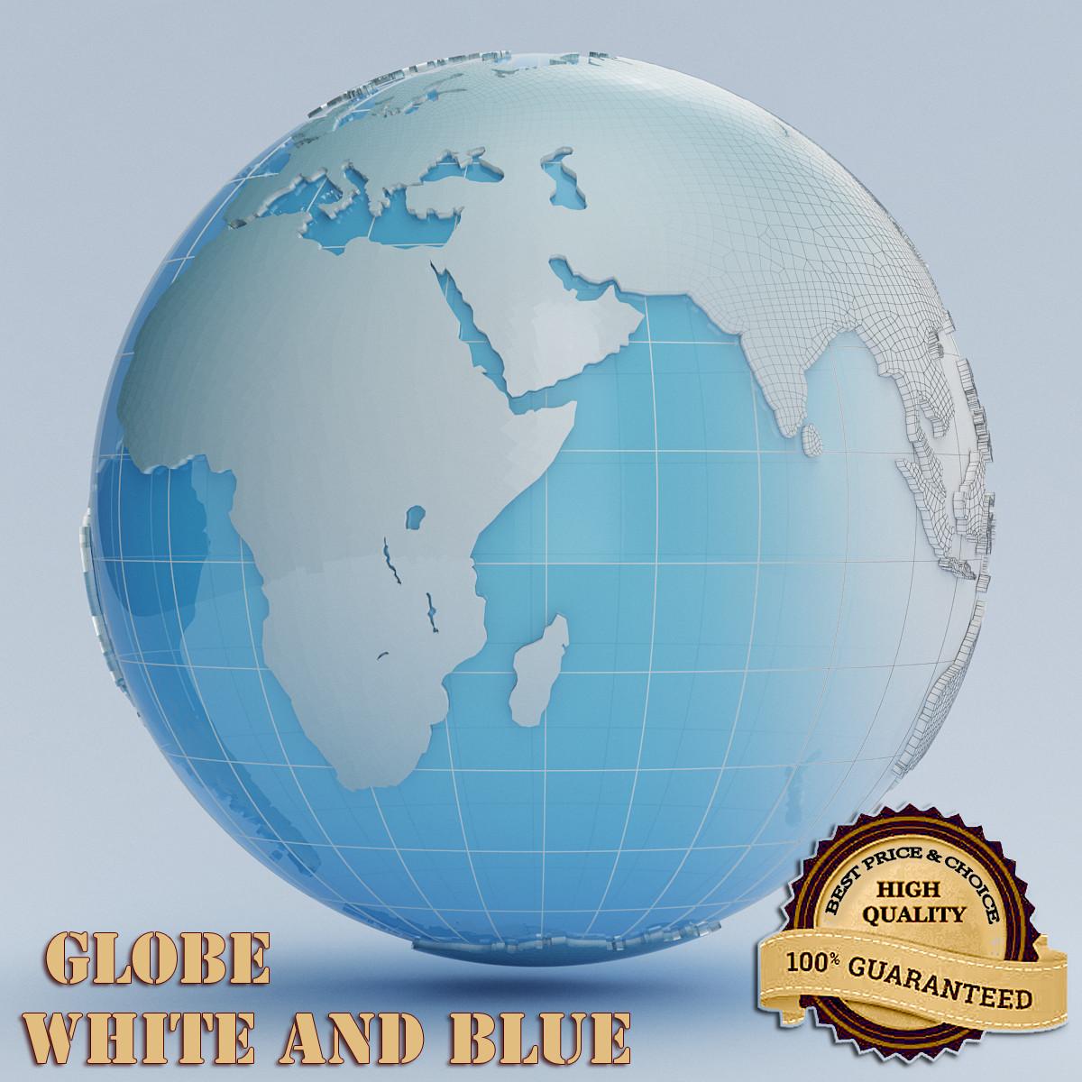 globe white blue max