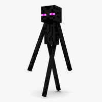 minecraft enderman rigged 3d max