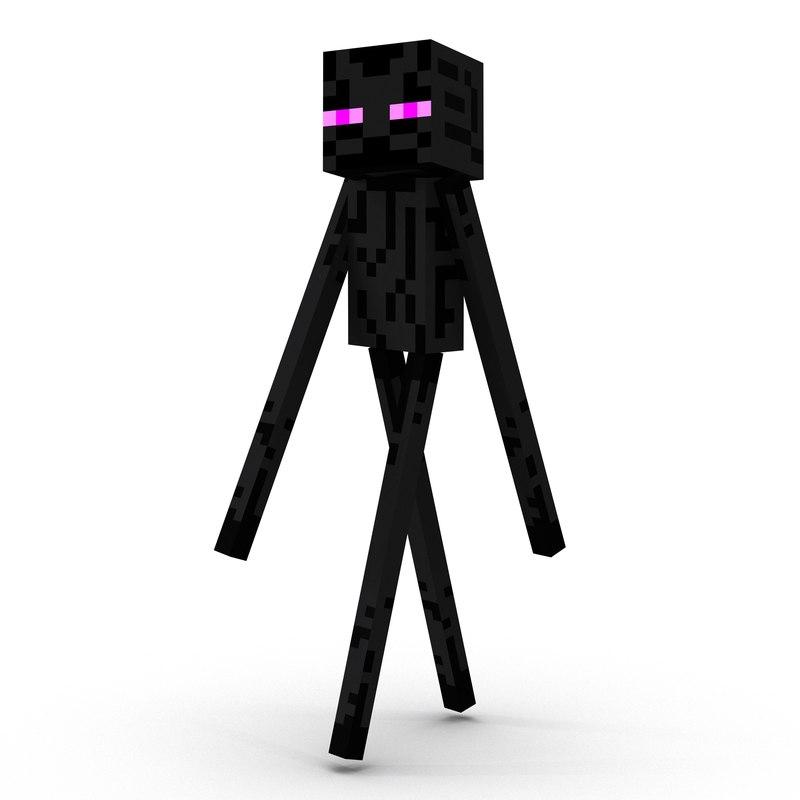 Minecraft EnderMan Rigged 3D Model