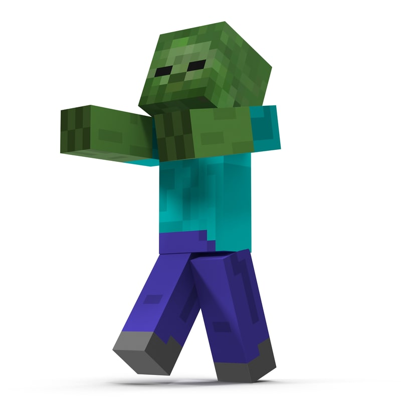 Minecraft Zombie Rigged 3d Model