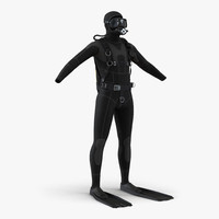 scuba diving equipment 3d model