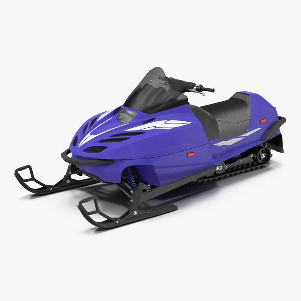 snowmobile generic 3d max