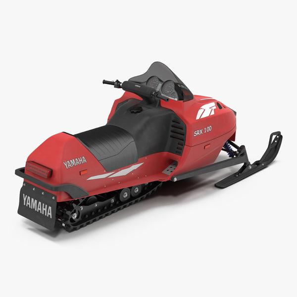 3d model snowmobile yamaha