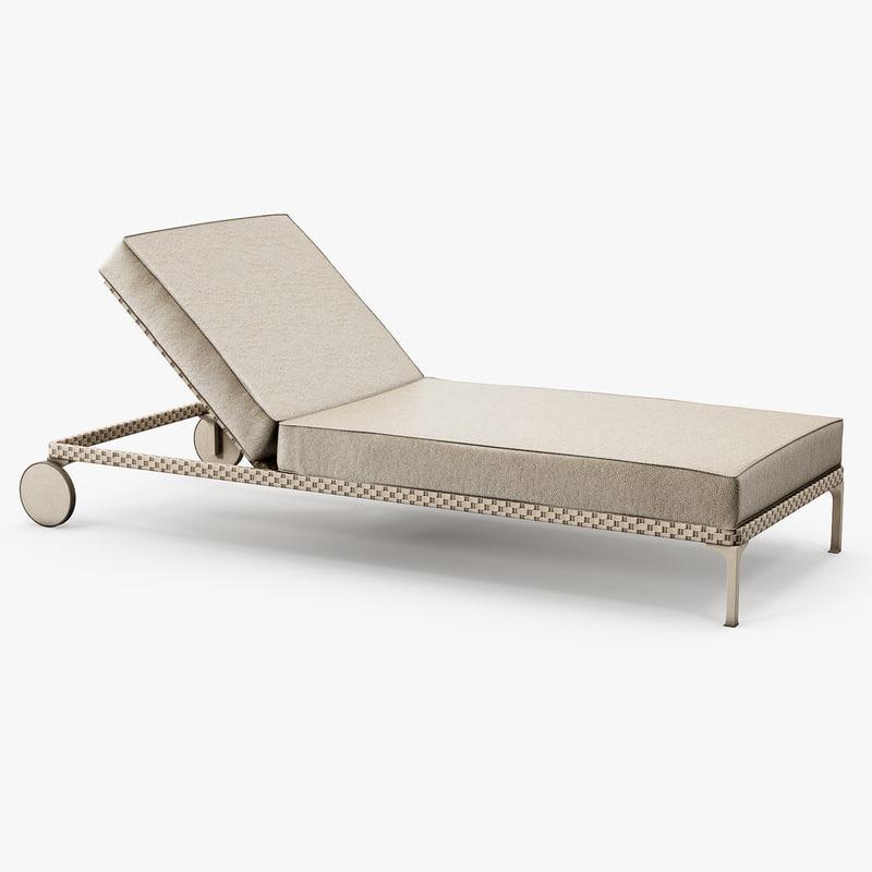 Dedon   Rayn Beach Chair 3d 3ds