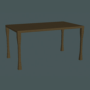 3d model table games film