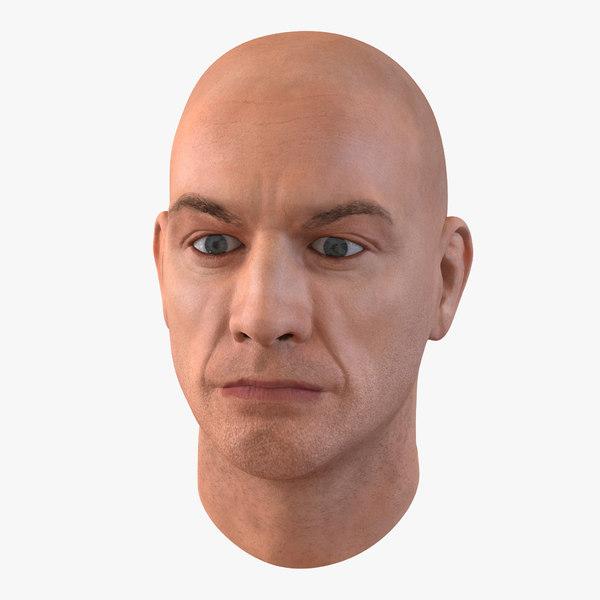 3d male head 5 model