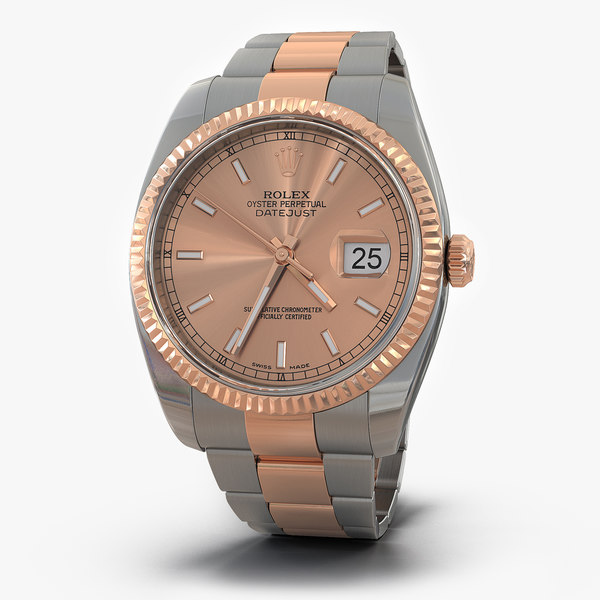 rolex datejust everose gold 3ds