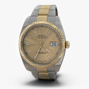 3ds rolex datejust steel gold