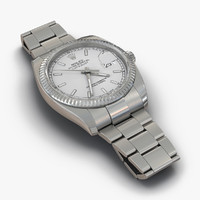 3d rolex datejust white gold