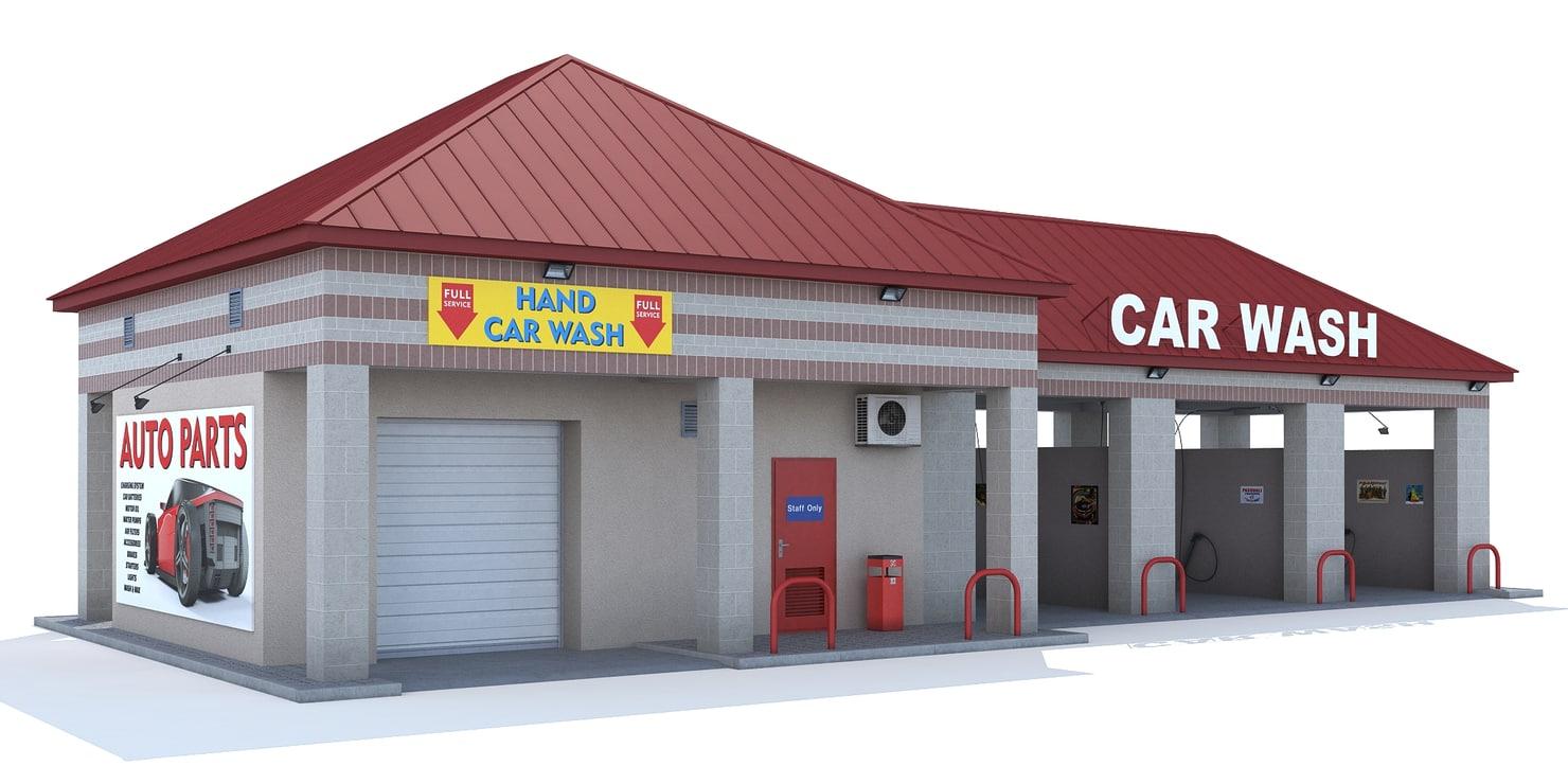 3d model car wash