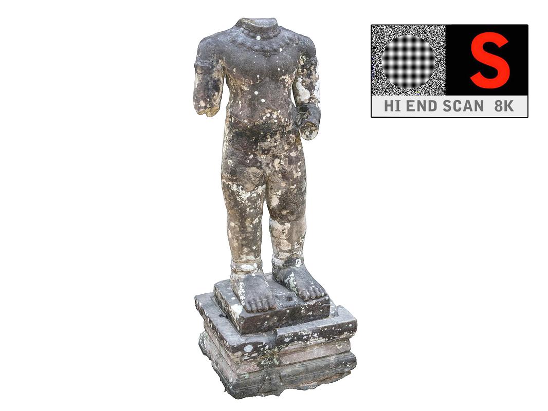 ancient sculpture ancor 3d model