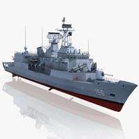 3d model anzac class frigate hmas