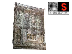 obj cambodia temple wall 8k