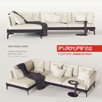 3d model feel good large sofa