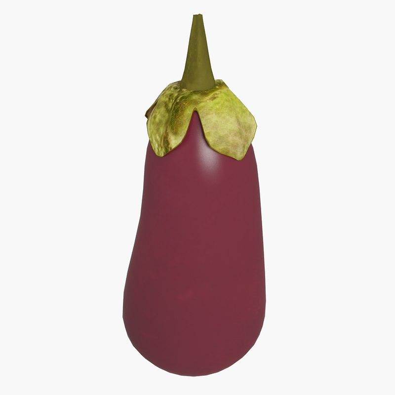 3d eggplant plant