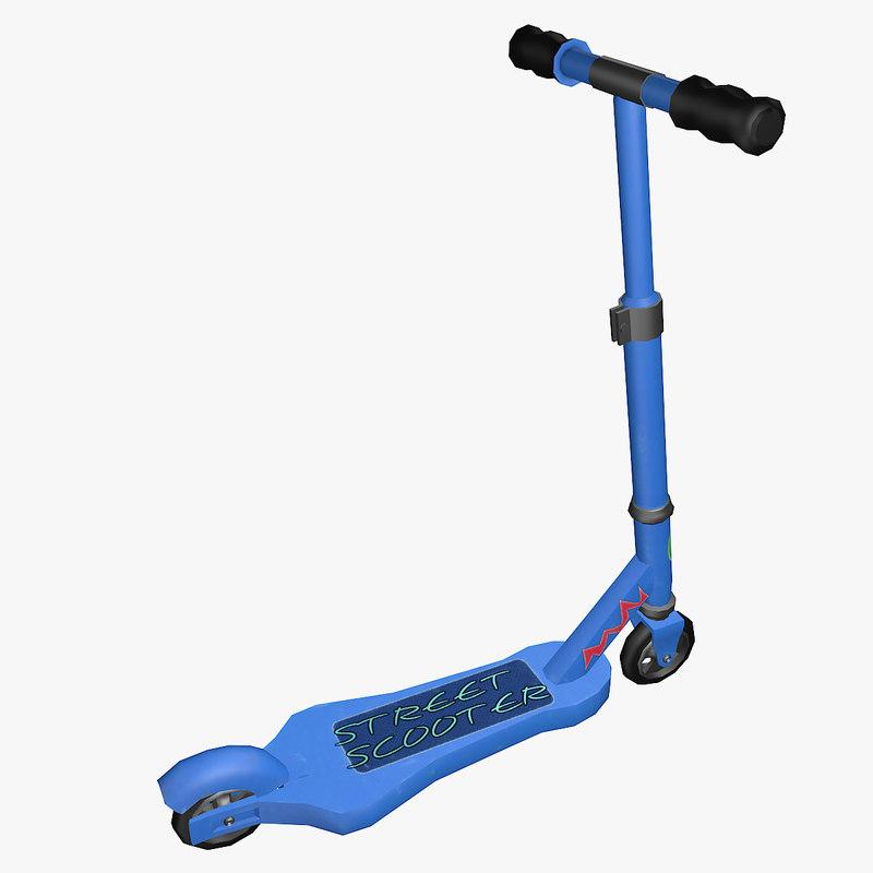 kick scooter 3d max