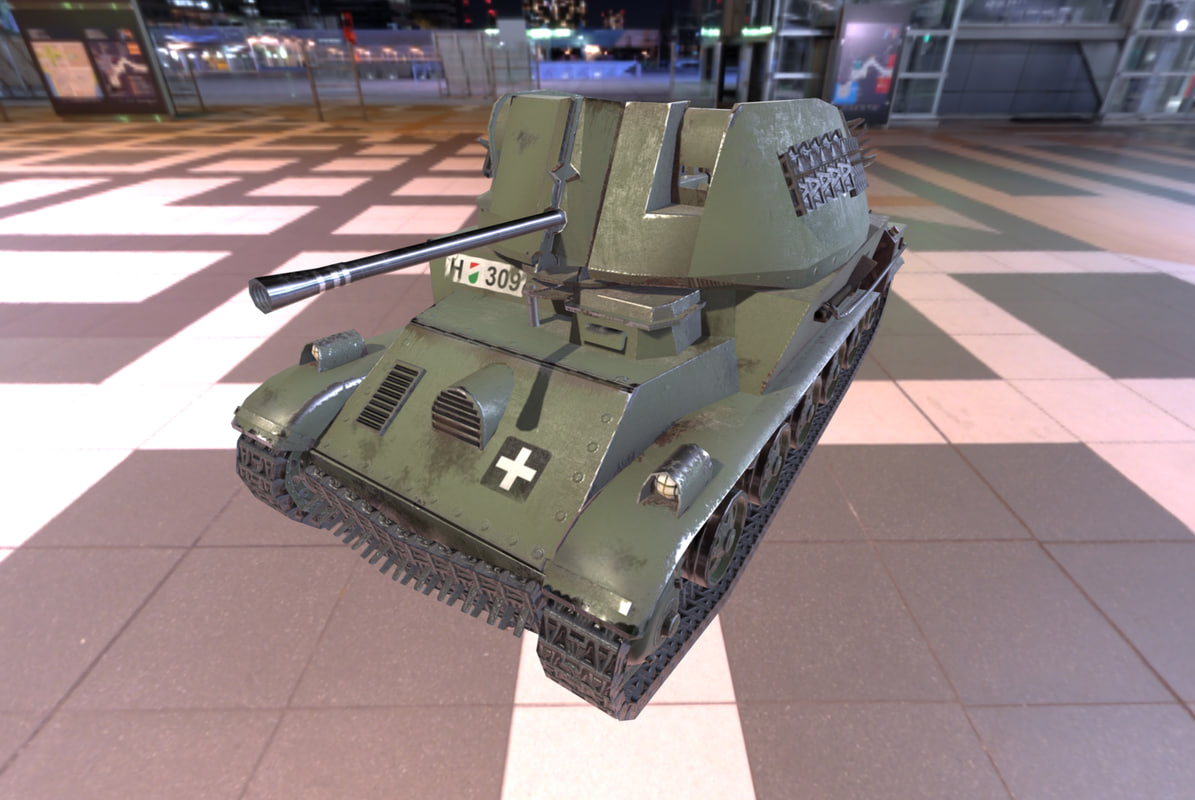 3d obj ww2 tank nimrod