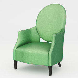 3d model armchair hutton bru rondo