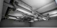 interior air ducts modular 3d max