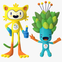 2016 Olympic Mascots Vinicius and Tom RIGGED