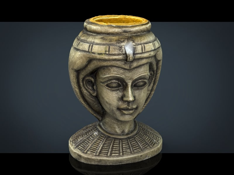 3d egyptian head model