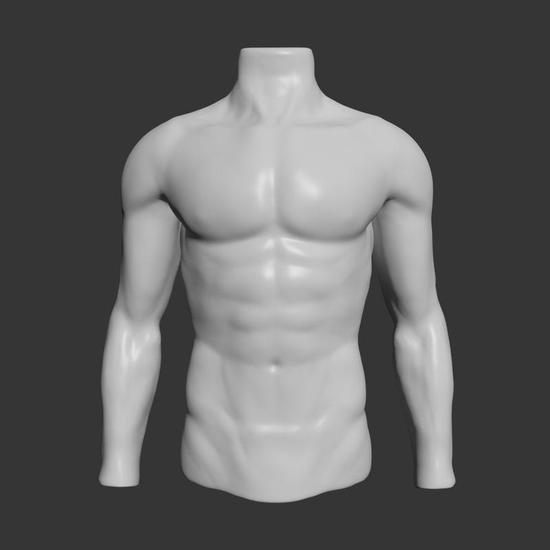 Upper Body Sculpting 3D model | CGTrader