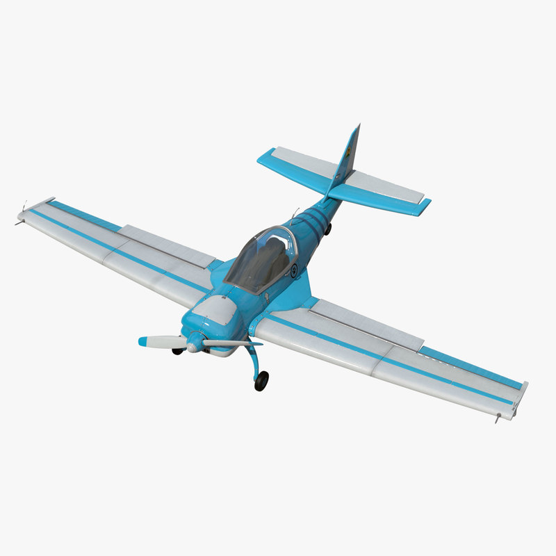 3d single light aircraft 1