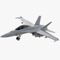 FA-18F Super Hornet Rigged and Animated