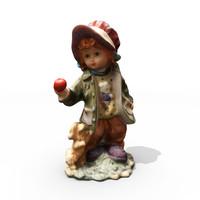 3d model sculpture girl