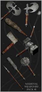 3d model weapons pack