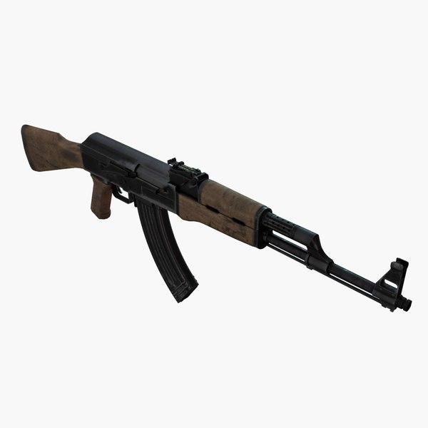 3d rifle ak model