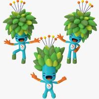 2016 olympics mascot tom 3d max