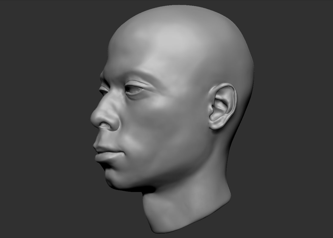3ds black man head 2