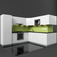 modern kitchen 03 3d 3ds
