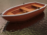 3d max row boat