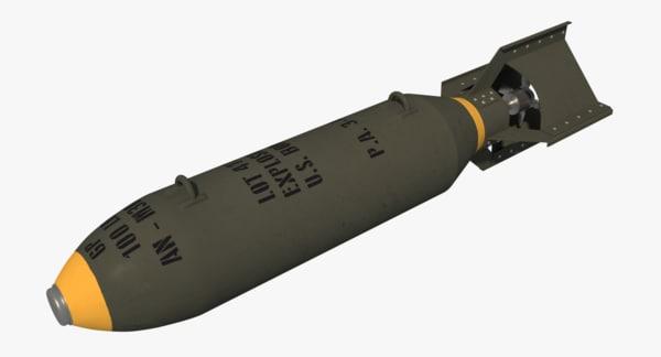 an-m30 gp100 bomb ii 3d obj