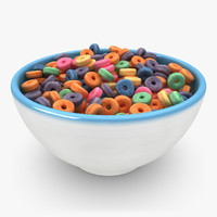 realistic cheerios fruit 3d model