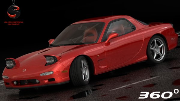 mazda rx-7 1997 3d model