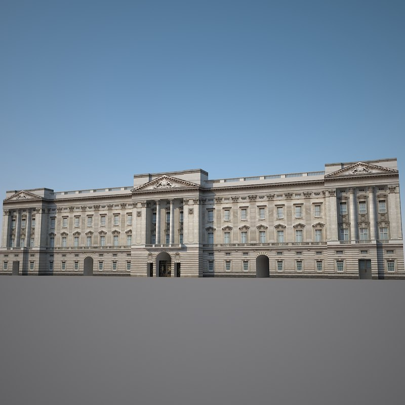 buckingham palace king 3d model