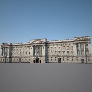 buckingham palace king 3d model
