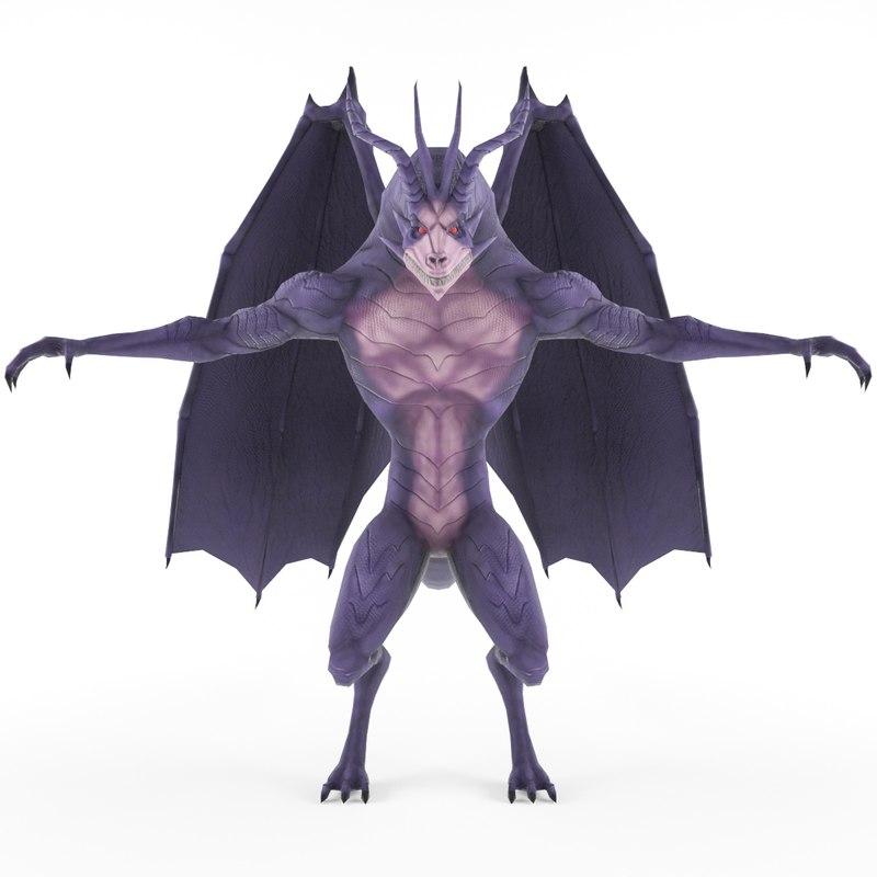 3d character dragon