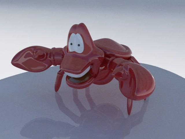 crab character 3d model