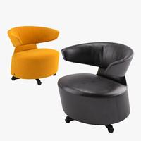 3d model cassina armchair