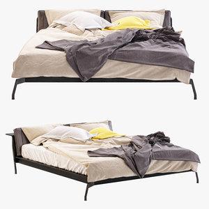 3d model cassina bed