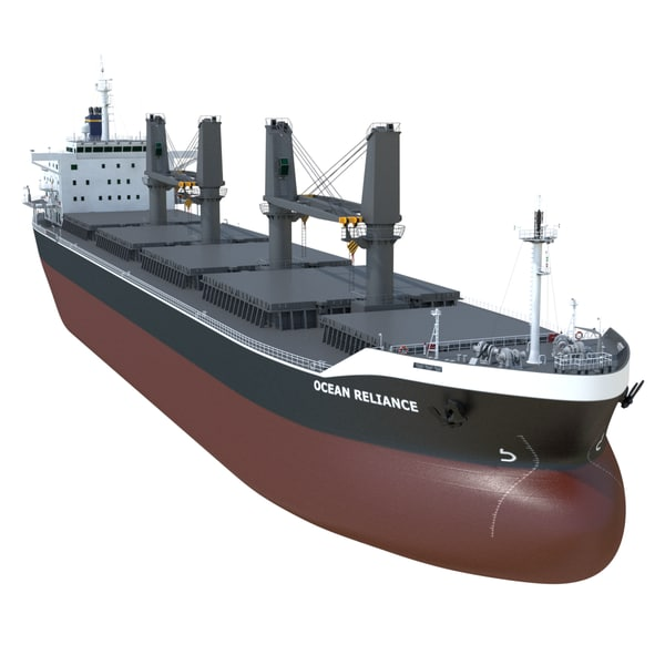 3d model handymax bulk carrier deck